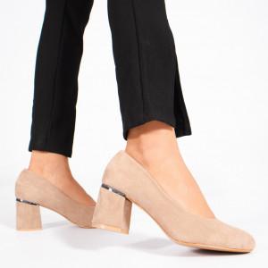 Pantofi Dama Rica Bej