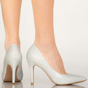 Pantofi dama Sure silver