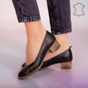 Pantofi piele naturala Bie negri