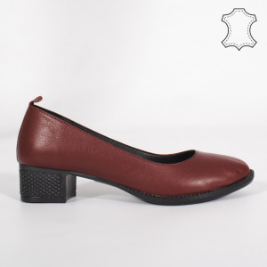 Pantofi Piele Naturala DOL Bordo