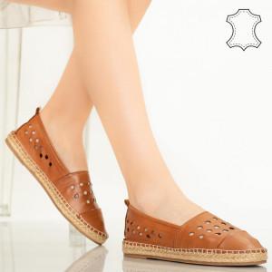 Pantofi piele naturala Dove maro