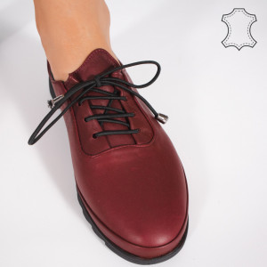 Pantofi Piele Naturala LUVE Bordo