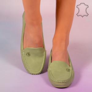 Pantofi piele naturala Mariu verzi