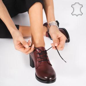 Pantofi Piele Naturala VIR Bordo