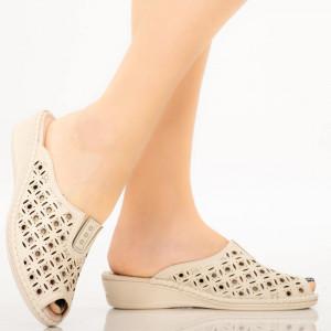 Papuci dama Bik bej
