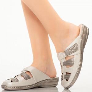 Papuci dama Rupa argintii