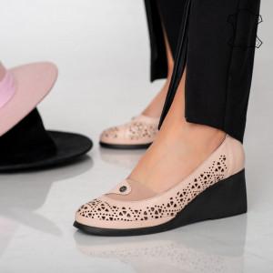 Platforme piele naturala Lazi roz