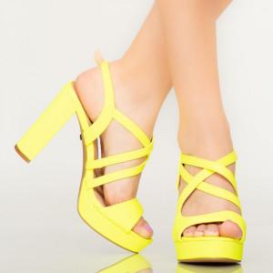 Sandale dama Digo galbene