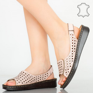 Sandale piele naturala Baly roz