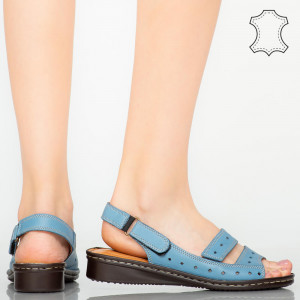 Sandale piele naturala Rima albastre