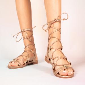 Бежови сандали Lady Jed