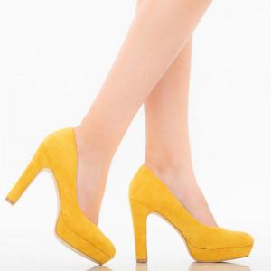 Дамски обувки Shamia жълти