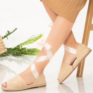 Дамски сандали Pos бежово