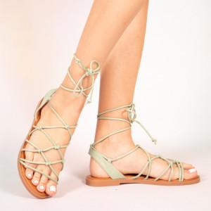Зелени дамски сандали