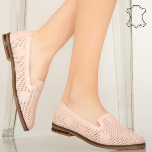Guen rózsaszín természetes bőr cipő