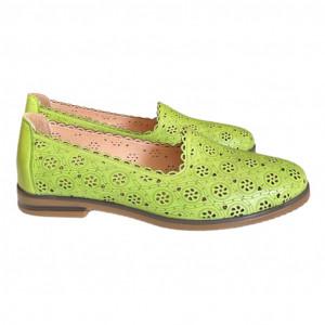 Hill sárga természetes bőr cipő