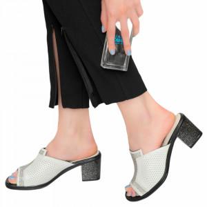 Lady Ako white sandals