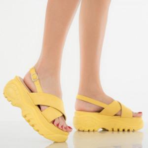 Női platformok Sárga észterek