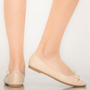 Pantofi casual Lenu aurii