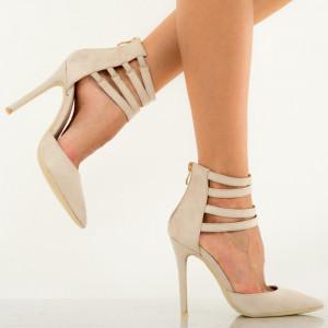 Pantofi dama Ashanti bej