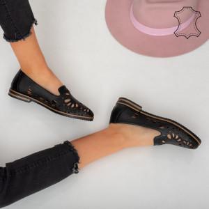 Pantofi piele naturala Betim negri