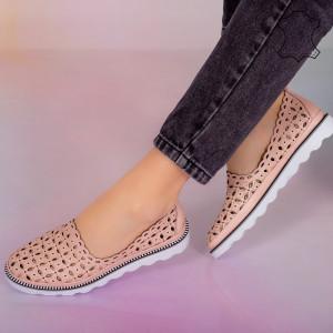 Pantofi piele naturala Bun roz