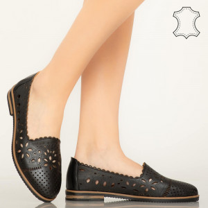 Pantofi piele naturala Fras negri
