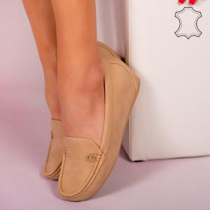 Pantofi piele naturala Mariu bej