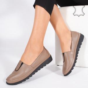 Pantofi Piele Naturala YOD Maro