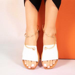 Papuci dama Josy albi