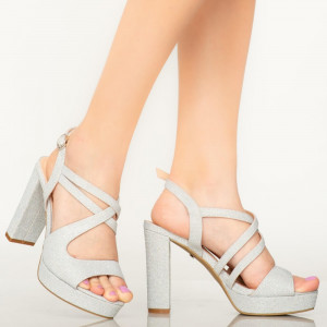 Sandale dama Digo argintii