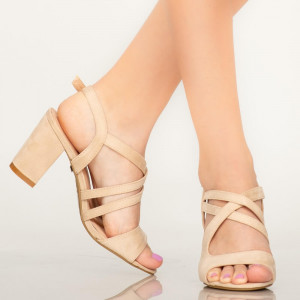 Sandale dama Fitz bej
