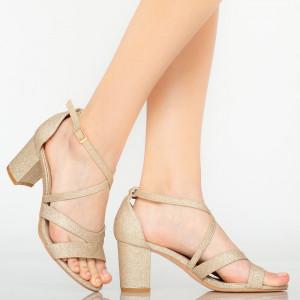 Sandale dama Jack aurii