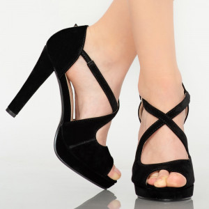 Sandale dama Lord negre
