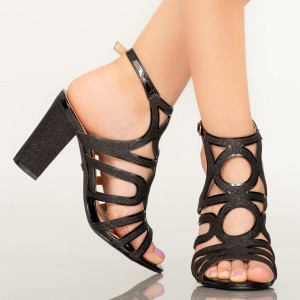 Sandale dama Mura negre