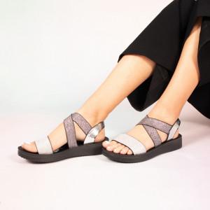 Sandale dama Plex gri