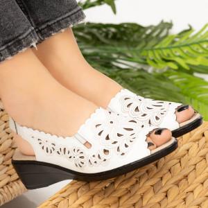 Sandale dama Sams albe