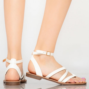 Sandale dama Tama Albe