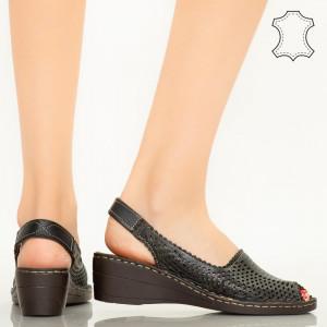 Sandale piele naturala Bak negre