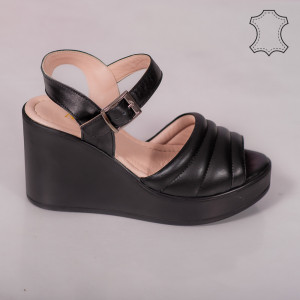 Sandale piele naturala Ber negre