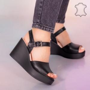 Sandale piele naturala Bit negre