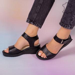 Sandale piele naturala Bog negre