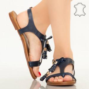 Sandale piele naturala Ioge albastre