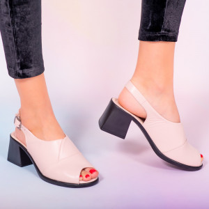 Sandale piele naturala Melo roz