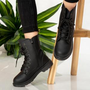 Μπότες μαύρης γούνας