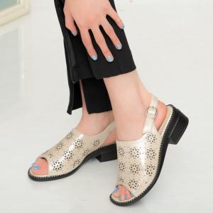 Дамски бежови сандали