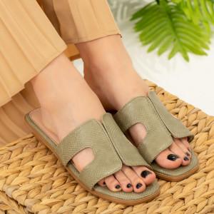 Дамски зелени чехли Salit