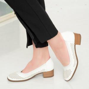Ain бели дамски сандали
