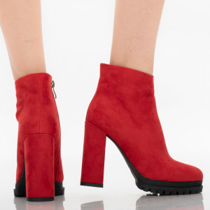 Alicia red women's ankle boots