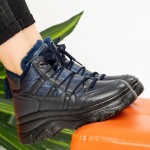 Blue Tyla fur boots
